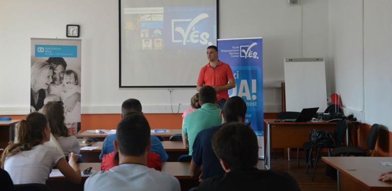 Prezentiranje programa za mlade YES Centar u Opštini Istočna Ilidža