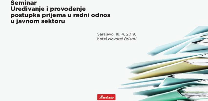 REVICON: Uređivanje i provođenje postupka prijema u radni odnos u javnom sektoru