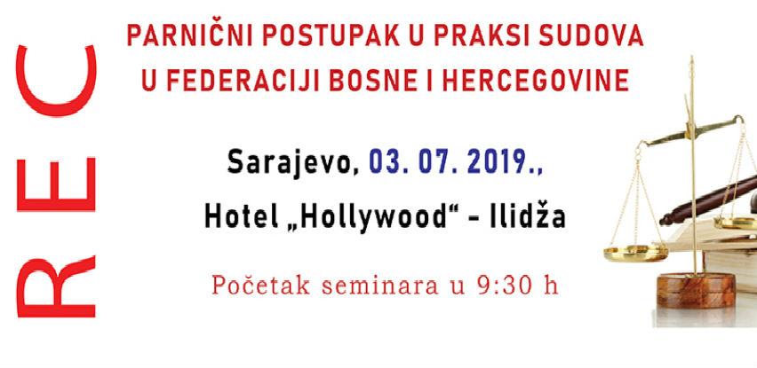 Rec seminar: Parnični postupak u praksi sudova u FBiH