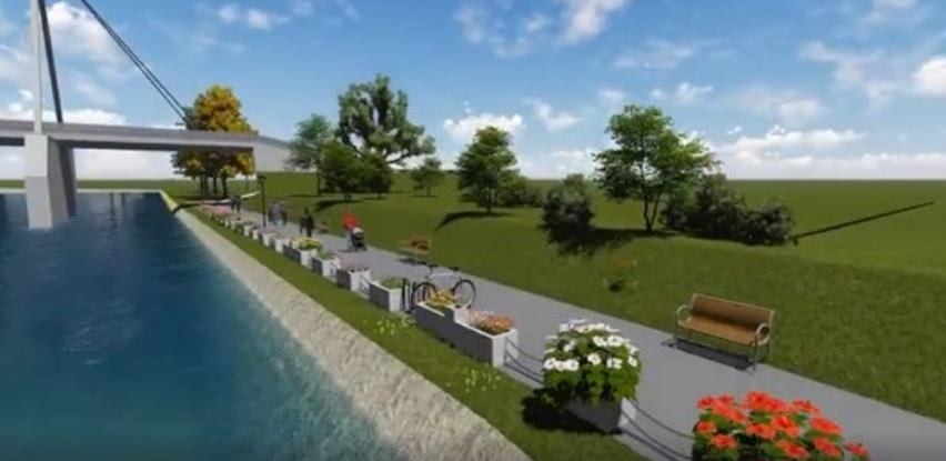 Pogledajte kako će izgledati šetalište na desnoj obali rijeke Bosne u Zenici