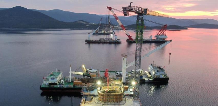 Počinje montaža prve rasponske konstrukcije Pelješkog mosta