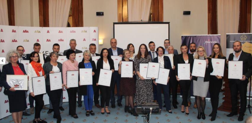 Certifikat bonitetne izvrsnosti preuzelo 26 kompanija Kantona Sarajevo