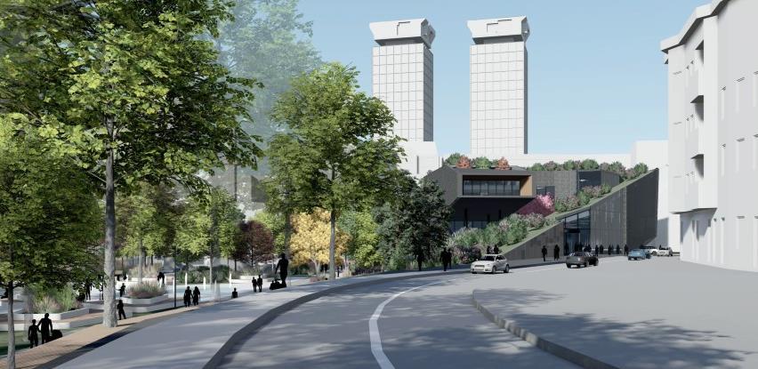 Centralna banka 'otkrila' dio idejnog rješenja zgrade u parku Hastahana
