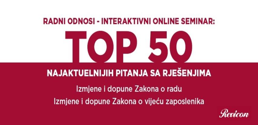 Radni odnosi seminar: TOP 50 najaktuelnijih pitanja sa rješenjima