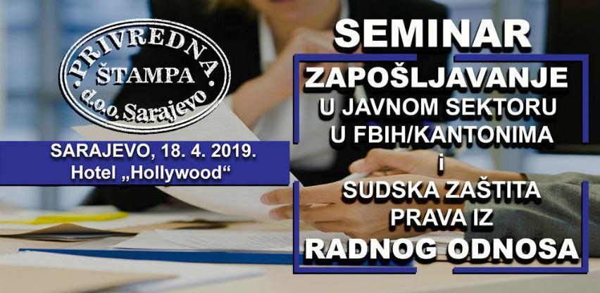 Privredna štampa seminar: Zapošljavanje i sudska zaštita prava iz radnog odnosa
