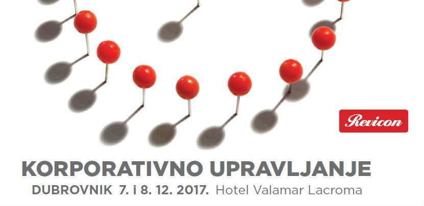 REVICON: XVII Međunarodni ekonomski forum KORPORATIVNO UPRAVLJANJE