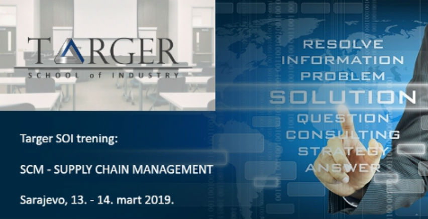 Targer School of Industry trening: SCM - SUPPLY CHAIN MANAGEMENT