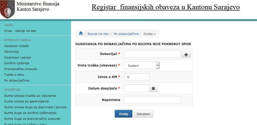 Uspostavlja se Registar finansijskih obaveza u KS