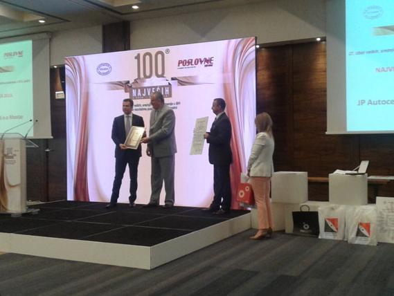100 najvećih u privredi: Dodijeljena priznanja najuspješnijim kompanijama