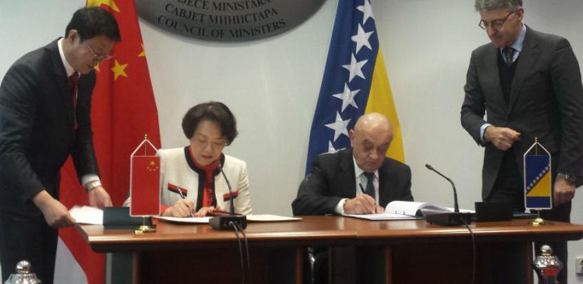 BiH 2,6 miliona eura bespovratne pomoći od NR Kine