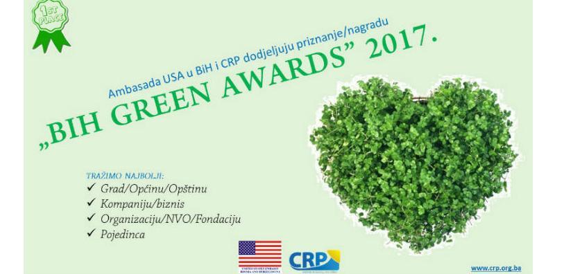 "Otvoreno glasanje za dodjelu nagrade ""BiH Green Awards"""