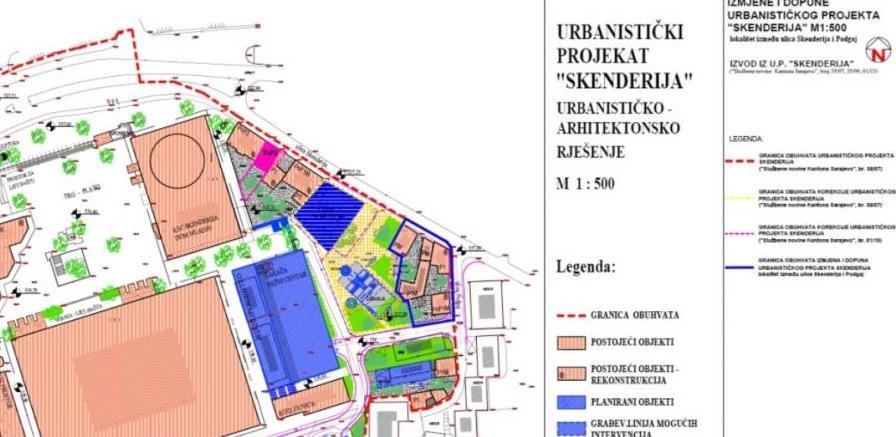 Otkazana javna rasprava o Nacrtu izmjena Urbanističkog projekta 'Skenderija'