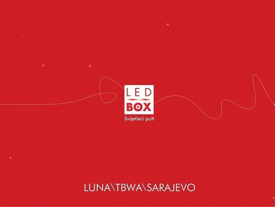 Luna/Tbwa donosi vam novi proizvod - LedBOX svijetleće pultove!