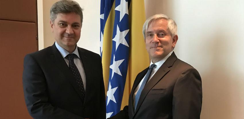 Susret Zvizdić - Rousson: Vidljiv napredak na euroatlantskom putu BiH