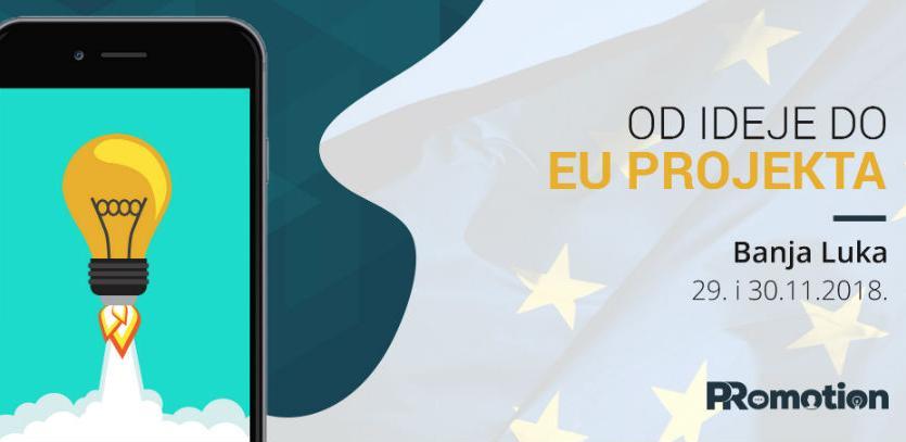 """30% popusta na kotizaciju za dvodnevnu radionicu """"Od ideje do EU projekta"""""""