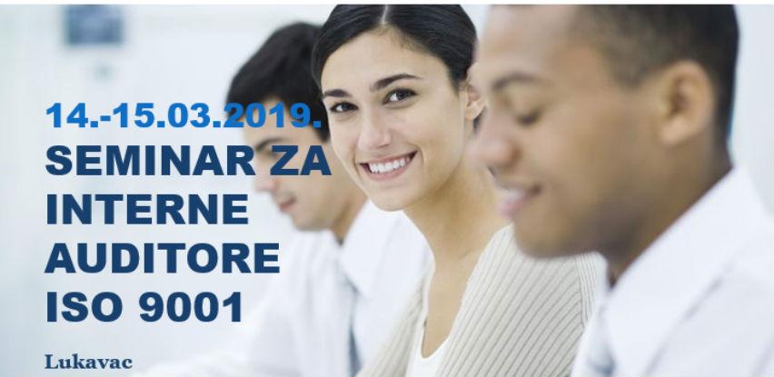 Seminar za interne auditore ISO 9001:2015, Lukavac