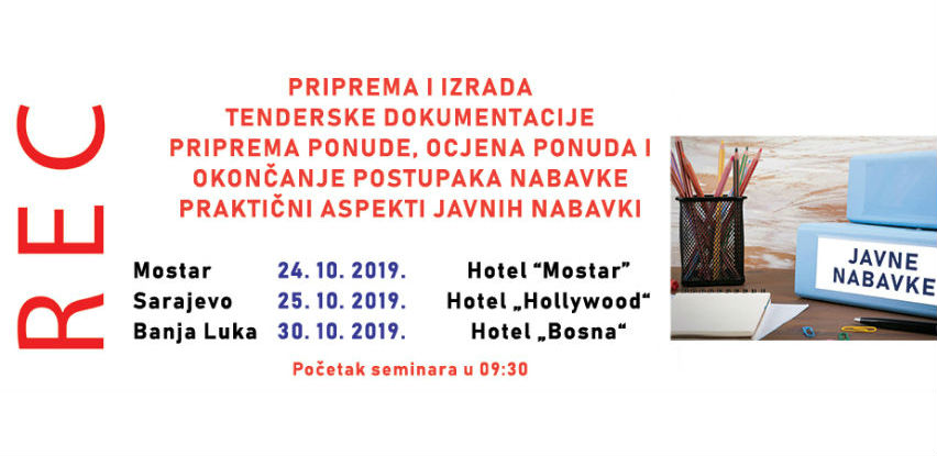 REC d.o.o. pripremio novi seminar na dvije teme