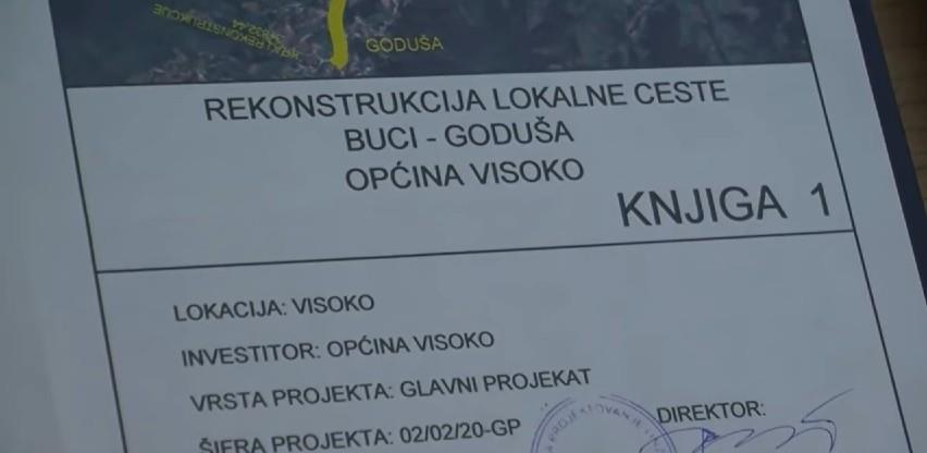 Izrada glavnog projekta rekonstrukcija lokalne ceste Buci – Goduša u Visokom