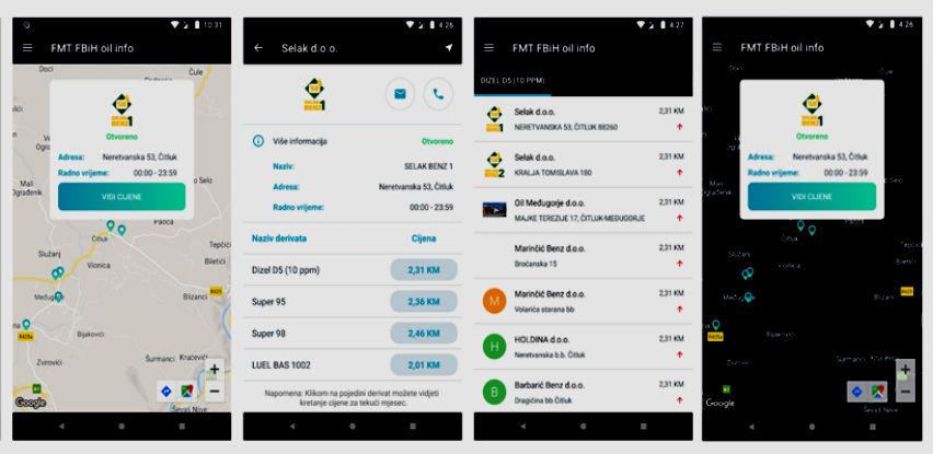 Puštena u rad Android aplikacija o cijenama goriva na pumpama u FBiH
