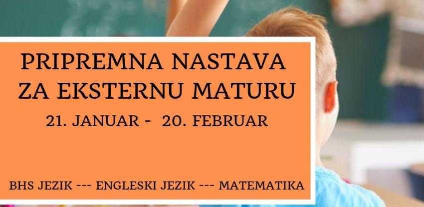 Pripremna nastava za polaganje eksterne mature učenika osnovnih škola KS