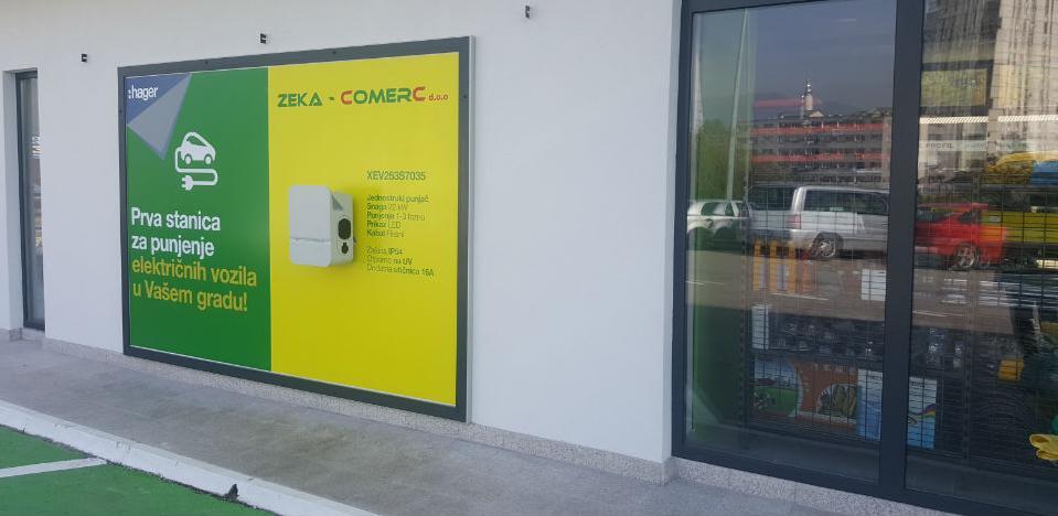 Instaliran prvi Hagerov punjač za električna vozila u Zenici