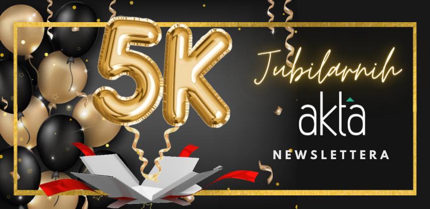 Jubilarno Akta.ba izdanje: 5.000 broj newslettera je tu!