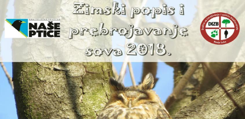 U BiH počinje akcija prebrojavanja sova