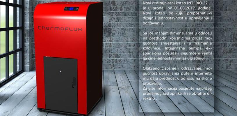 Novi redizajnirani kotao INTERIO 22 odlikuje prepoznatljivi dizajn