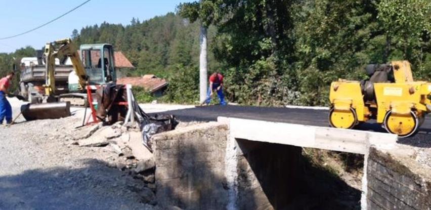 Rekonstruisan most na Jevđenića potoku
