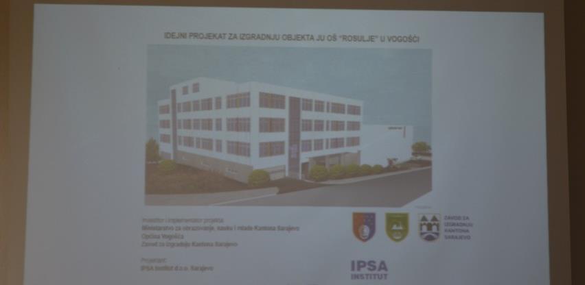 Prezentiran idejni projekt izgradnje objekta OŠ 'Rosulje' u Vogošći