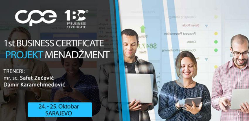 CPE organizuje Projekt menadžment-interaktivni trening u Sarajevu