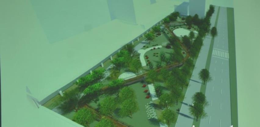 Prezentiran Idejni projekat izgradnje urbanog parka u ulici Zmaja od Bosne