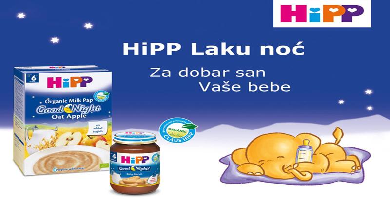 HiPP Laku noć - Za dobar san Vaše bebe!