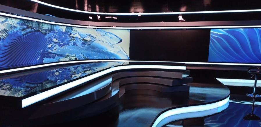NEC video zid je dio novog studija televizije Hayat