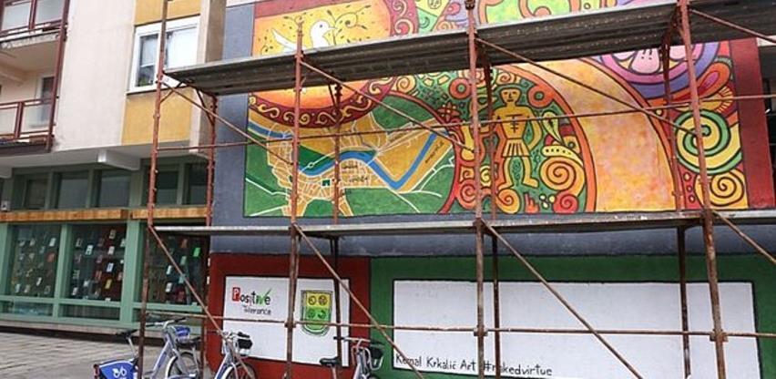 U Zenici izrađen mural koji oslikava kulturno-historijsko naslijeđe BiH