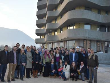 """Studenti Burcha posjetili gradilište """"Sarajevo Waves"""""""