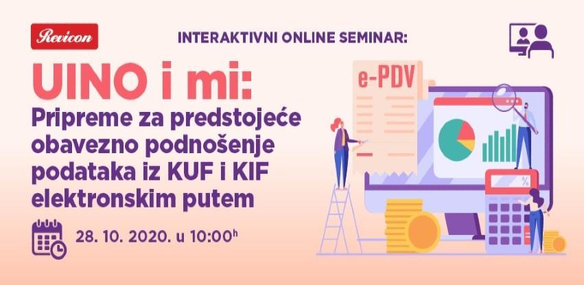 UINO I MI: Pripreme za predstojeće elektronsko podnošenje podataka iz KUF i KIF