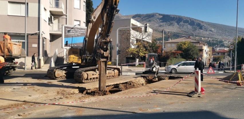 U toku radovi na rekonstrukciji starog odvodnog kanala u Mostaru