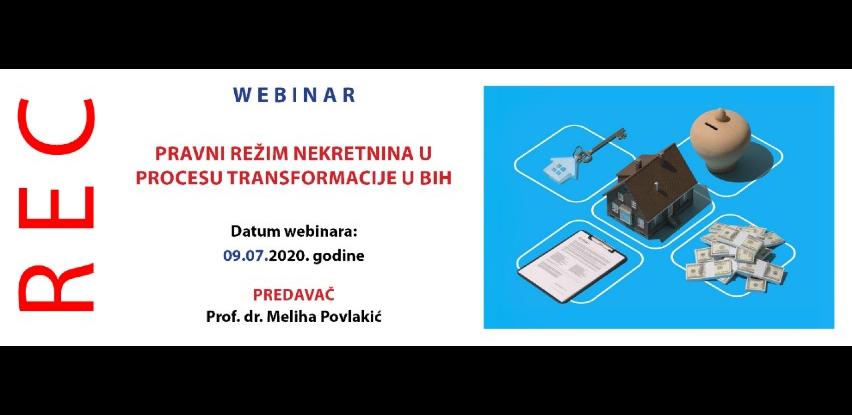 Webinar: Pravni režim nekretnina u procesu transformacije u BiH