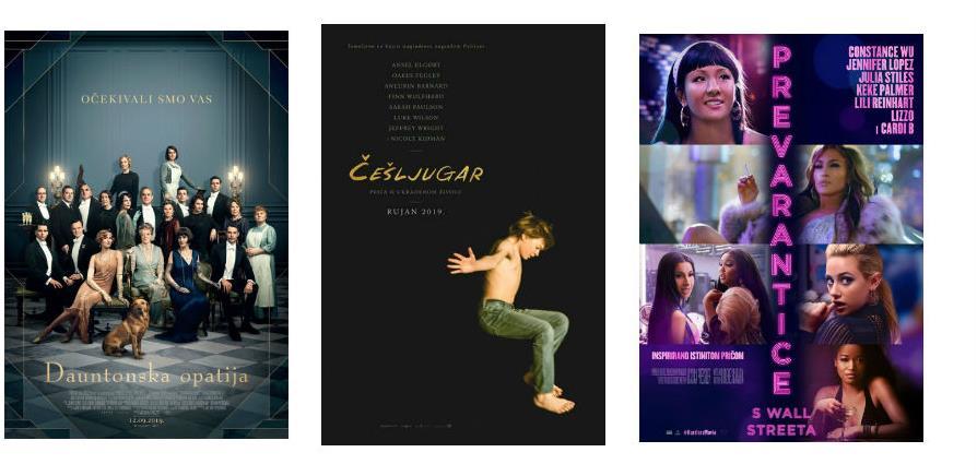 Od 12. septembra na repertoar Cinema Cityja stiže nova komedija i dvije drame
