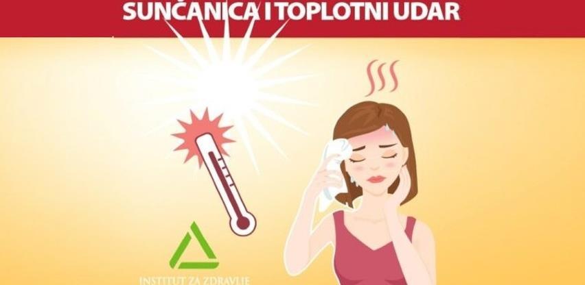 INZ: Sunčanica i toplotni udar najveći neprijatelji našeg organizma