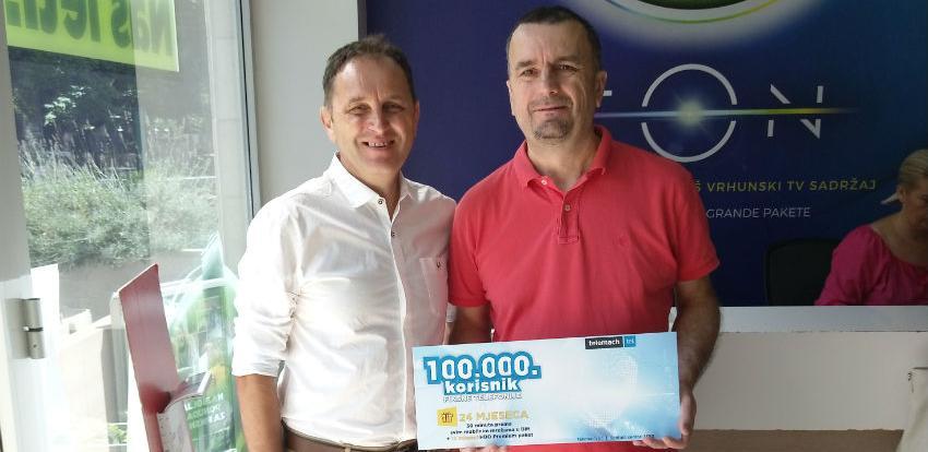Telemach nagradio 100.000 korisnika fiksne telefonije