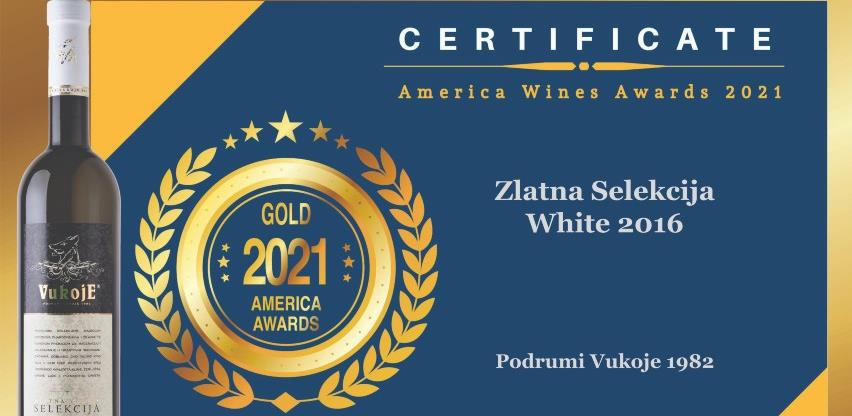 """Pet zlatnih medalja za """"Podrume Vukoje 1982"""" na američkom vinskom ocjenjivanju"""