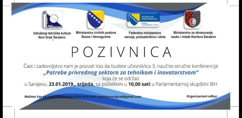 Konferencija o potrebi privrednog sektora za tehnikom i inovatorstvom