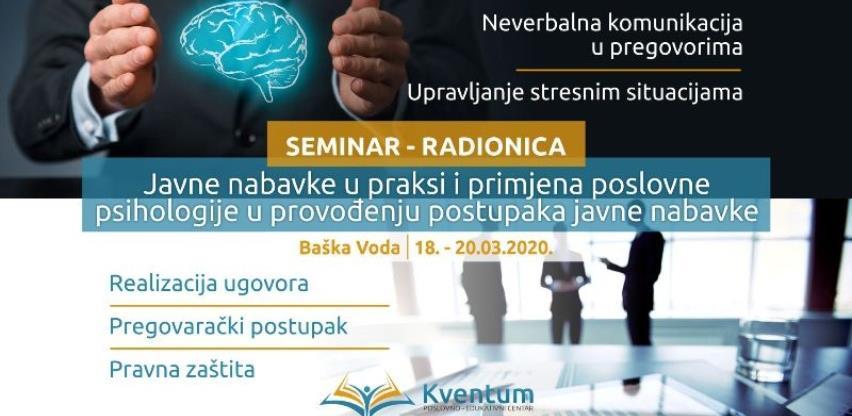Kventum: Javne nabavke u praksi i primjena poslovne psihologije