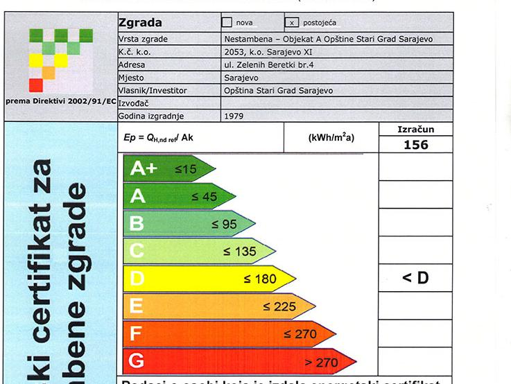 Urađen energetski certifikat Općine Stari Grad