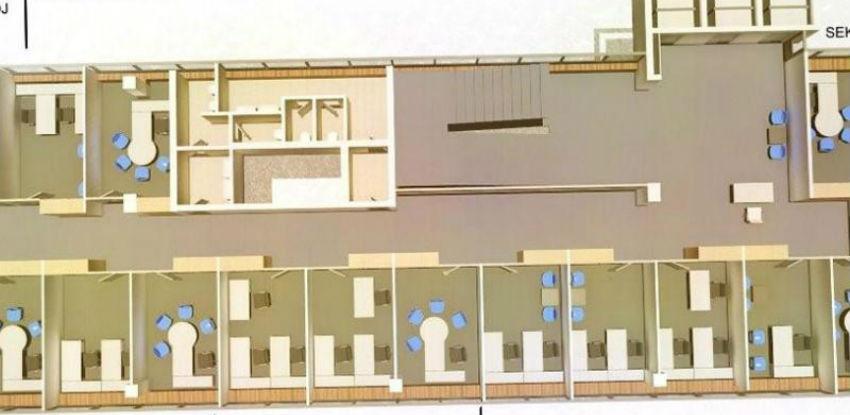 Staklena banka: Na jednom katu bit će 25 ureda te prostorije za sastanke