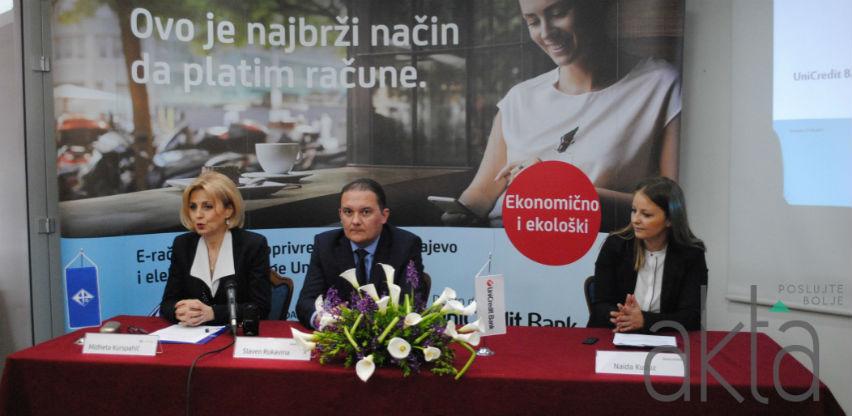 Saradnja UniCredit Bank i EP BiH: Brz i ekonomičan način plaćanja računa