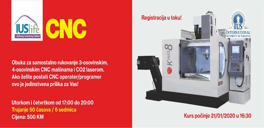 IUS Life centar ca cjeloživotno učenje organizuje obuku na CNC mašinama