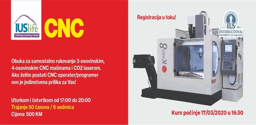 IUS Life centar organizuje novi CNC kurs